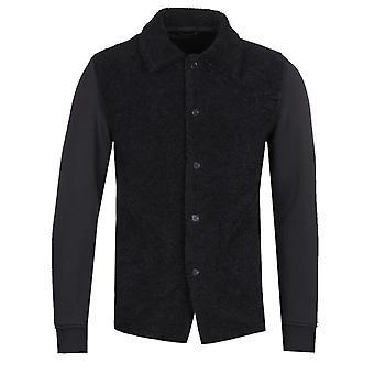 Barena Lanosa svart fleece knapp opp genser