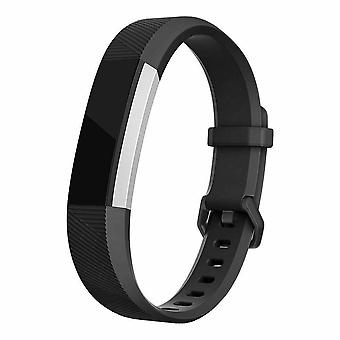 "Replacement Strap Silicone Band Bracelet for Fitbit Ace Kids / Alta / Alta HR[Small Fits Wrist 5.5"" - 6.9"",Black]"