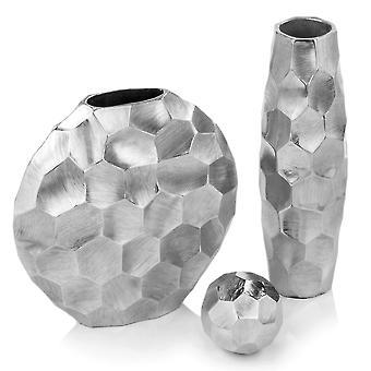 "4"" Rough Hewn Silver Sphere"