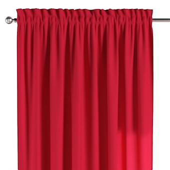 Vorhang mit Tunnel und Köpfchen, rot, 130 × 260 cm, Quadro, 136-19