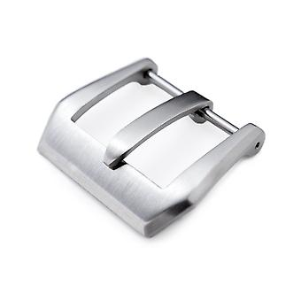 Strapcode watch buckle 20mm, 22mm or 24mm high quality 316l stainless steel screw type bevel pv 4mm tongue buckle, brushed finish