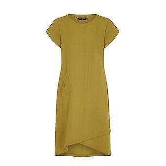 VIZ-A-VIZ Green Asymmetric Dress