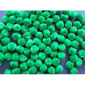 40 Green 25mm Craft Pom Poms
