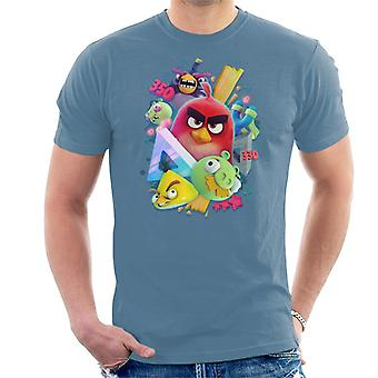 Angry Birds 3D Gang Uomini's T-Shirt