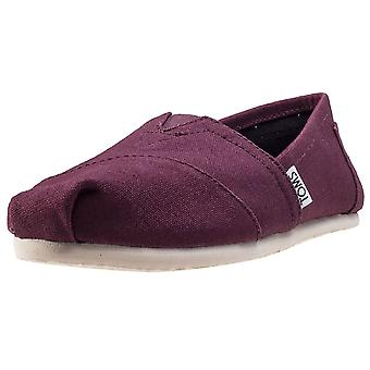 Toms Seasonal Classics Womens Slip On Shoes in Red Mahonie