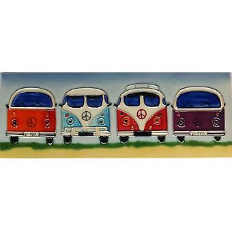 YH-Arts Ceramic Wall Art, Camper Van 16 x 16
