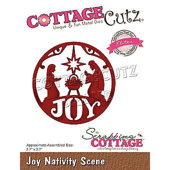 Demolição cottage joy presépio cena