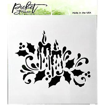 Piquet Fence Studios Pochoir aux chandelles