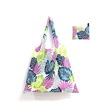 Large reusable shopping bag, portable environmental protection folding tote bag