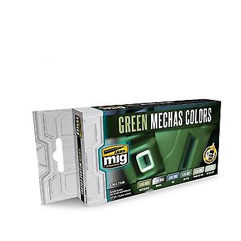Ammo by Mig - Green Mechas Colors Acrylic Paint Set