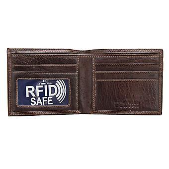 Primehide Mens Slim Leather Wallet RFID Blocking Card Holder Notecase Gents 4155