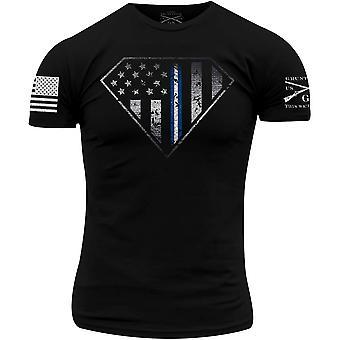 Grunt stil EMS Linje Crest T-skjorte - svart