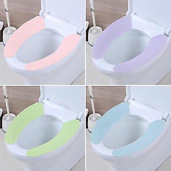 Zachte comfortabele kunstmatige vezel wasbare badkamer wc-bril cover mat deksel