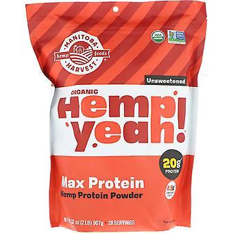 Manitoba Harvest, Organic, Hemp Yeah!, Protein Powder, Max Protein, Unsweetened,