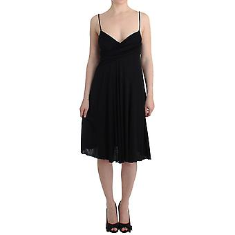 Galliano Black Jersey A-Line Dress SIG11575-2