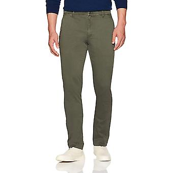 Goodthreads Men's Slim-Fit Washed Stretch Chino Pant, Olive, 32W x 30L
