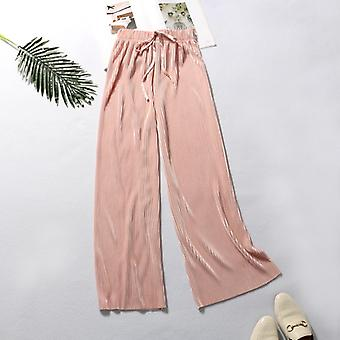 silk Wide Leg Casual Pants For Women