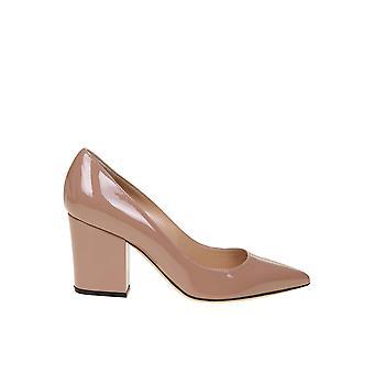 Sergio Rossi A85320mviv015755 Femmes's Pink Verni Leather Pumps