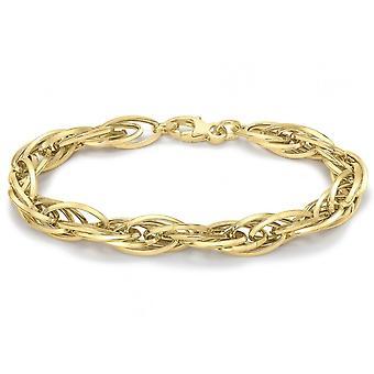 Eternity Ladies 9ct Gold Chunky Fancy Hollow Walesin prinssi Rannekoru