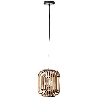 BRILLIANT Lampe Woodrow Pendant Lamp 1flg Light Brown | 1x A60, E27, 60W, f. normale lamper n. ent. | Kabelforkortes | For