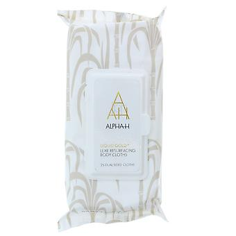 Alpha-H Liquid Gold Luxe Resurfacing Körper Tücher - 25 Dual Sided Tücher