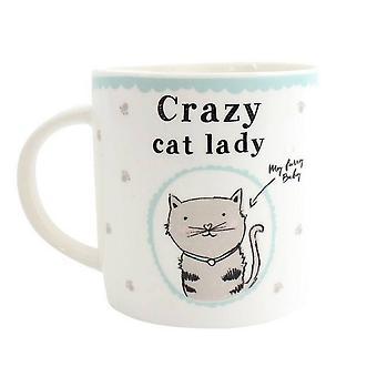 Something Different Crazy Cat Lady Ceramic Boxed Mug