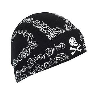 Balboa Z500 100% Cotton Skull Paisley Flydanna - Black