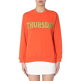 Alberta Ferretti 170116760127 Damen's Orange Baumwolle Sweatshirt