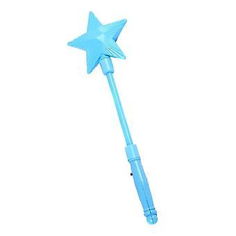 Kunststoff LED blinkende Glow Stick - fünf spitze Stern Fee Zauberstab Kinder Spielzeug