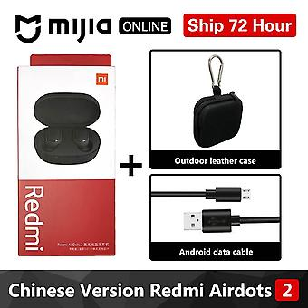 Redmi Airdots 2 In Ear Tws Bluetooth 5.0  Earphone Bass Stereo Wireless Cancellation With Mic Handsfree Earbuds Ai Control