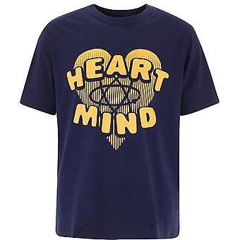 Billionaire B20349navy Men's Blue Cotton T-shirt