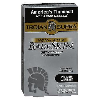 Trojan Supra BareSkin Lubricated Polyurethane Condoms, 6 Each