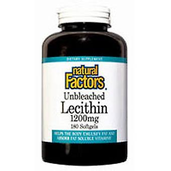 Luonnolliset tekijät Lesitiini, 1200 mg, 180 Softgels