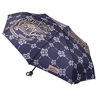 Harry Potter Hogwarts Logo Navy Compact Umbrella
