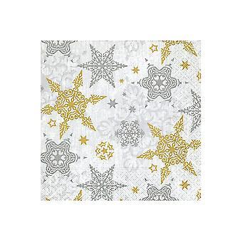 Paper & Design Napkins x20 Delicate Stars PD600317