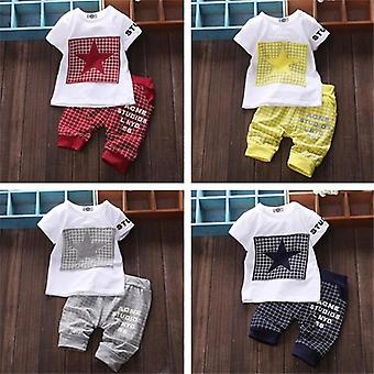 Baby Boy Summer Clothes Sets T-shirt+pantalons Suit Star Imprimé Vêtements Nouveau-né