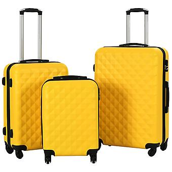Hard Shell Trolley Set 3 pcs. Yellow ABS