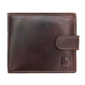 Primehide Mens Portefeuille en cuir RFID Blocage Porte-carte Notecase Gents 4701