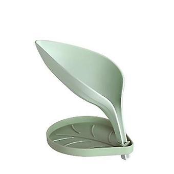 Creative Bathroom Leaf Double Layer Non-slip Drain Soap Holder - Sink Sponge