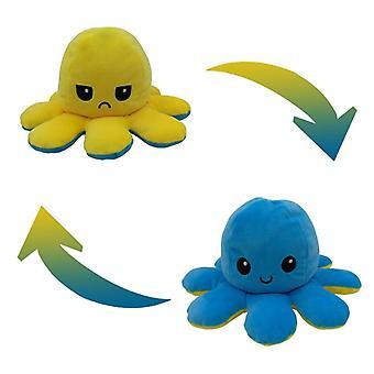 Süße weiche Simulation Octopu Puppe - doppelseitige Flip Spielzeug
