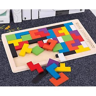 Wooden Tetris Puzzles-colorful Deformation Board