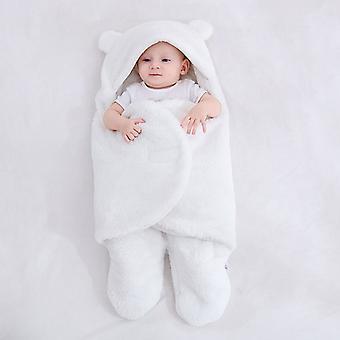 Baby Sleeping Bag Ultra-Soft Fluffy Fleece Newborn Receiving Blanket Infant Boys Girls ClothesSleeping Nursery Wrap Swaddle