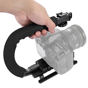 [UAE Stock] PULUZ U/C Shape Portable Handheld DV Bracket Stabilizer for All SLR Cameras and Home DV Camera
