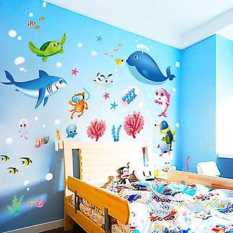 Lovely Sea Fish Cartoon Home Decals Wall Sticker Art Rooms