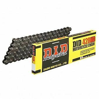 DID 428 HD Heavy Duty Motorcycle Chain Black Steel 124 RJ Clip Split Link