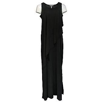 Lisa Rinna colección vestido sin mangas doble capa Maxi negro A351835