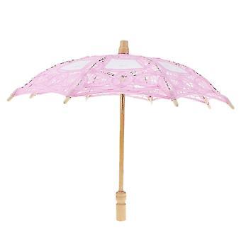 خمر ميني قطن الدانتيل المطرزة الشمس مظلة مظلة زهرة الزفاف الزفاف