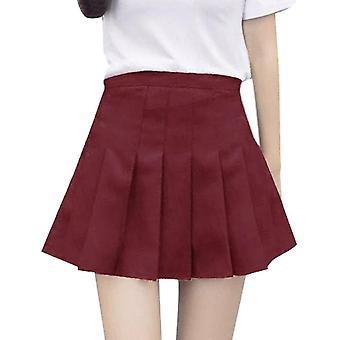 Plisowana satynowa spódnica letnia wysoka talia Mini Kobiety's Moda Slim Casual Tennis