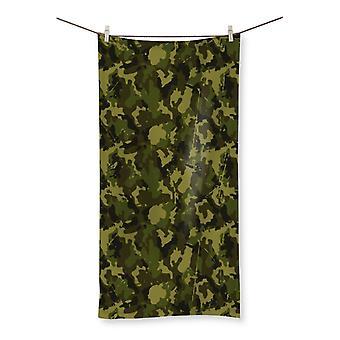 Camofludge 11 beach towel