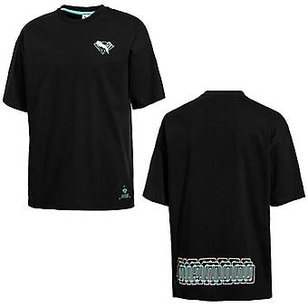 プーマ×ダイヤモンドサプライメンズティーロゴカジュアルトップブラックTシャツ 578232 01